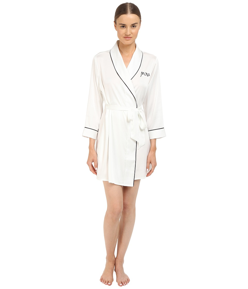 Kate Spade New York - Charmeuse Wrap (Off-White Mrs) Wome...