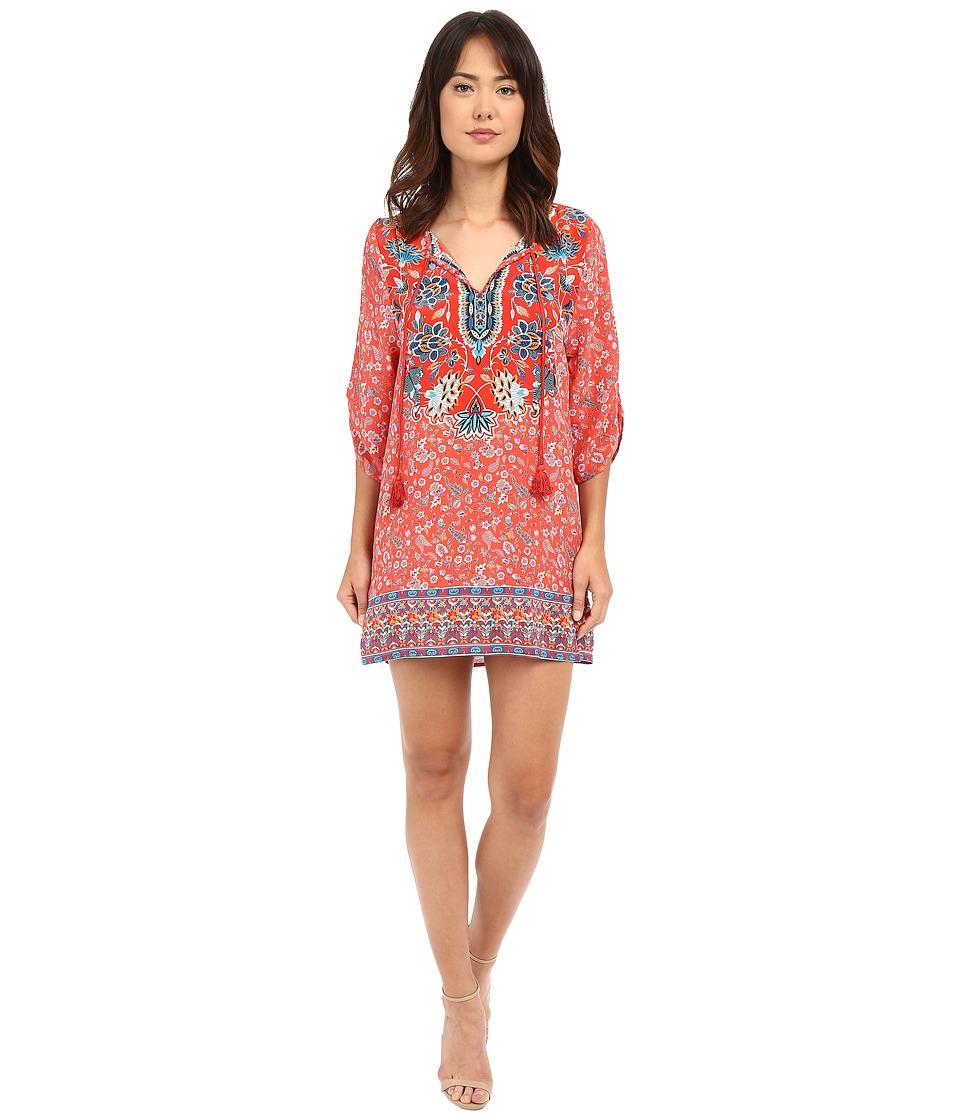 Tolani Sandy Tunic Dress Coral Womens Dress
