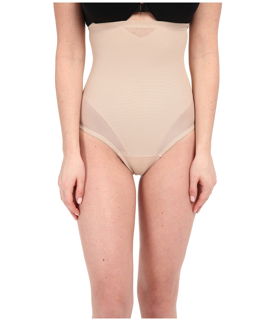 Miraclesuit Shapewear Sheer Extra Firm Shaping High Waist Thong Nude Womens Underwear