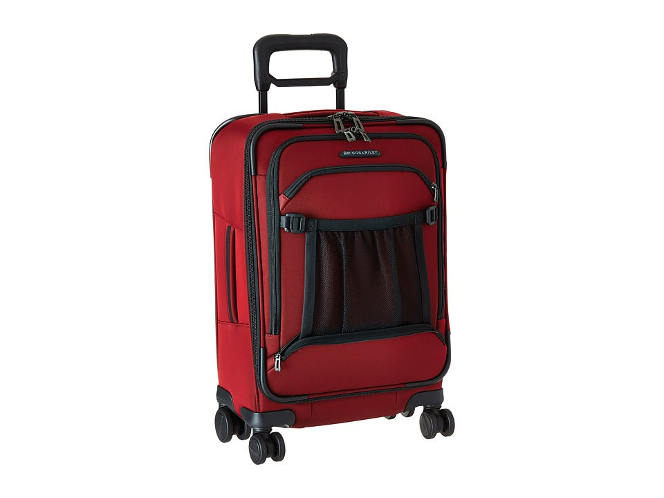 Briggs amp Riley Transcend Domestic Carry On Spinner Crimson Suiter Luggage