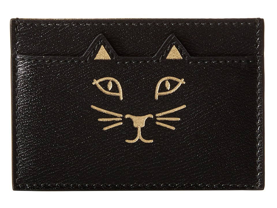 Charlotte Olympia Feline Card Holder Black Credit card Wallet