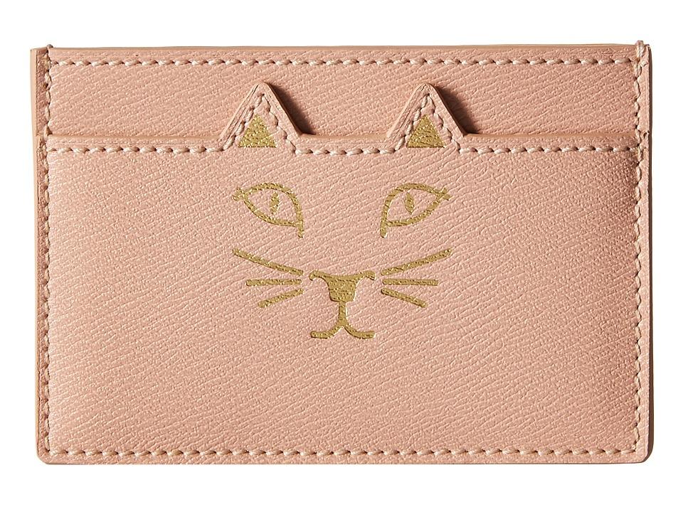 Charlotte Olympia Feline Card Holder Blush Credit card Wallet