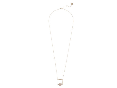French Connection Orbital Bead Pendant Necklace - Rose Gold/Light Pink