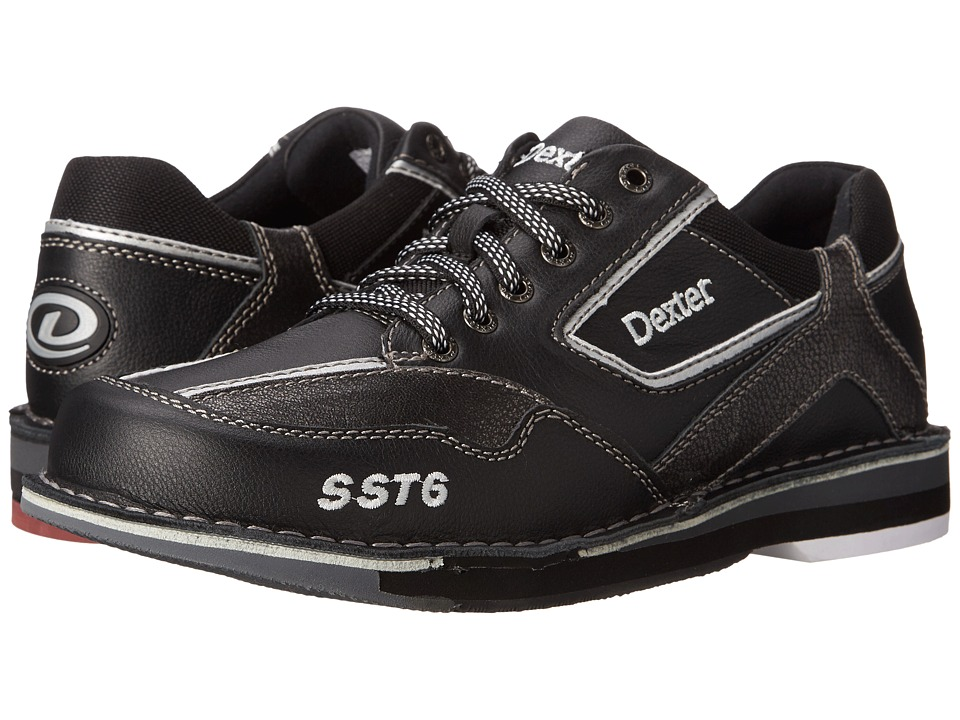 Dexter Bowling - SST 6 LZ LH (Black/Alloy) Mens Bowling Shoes