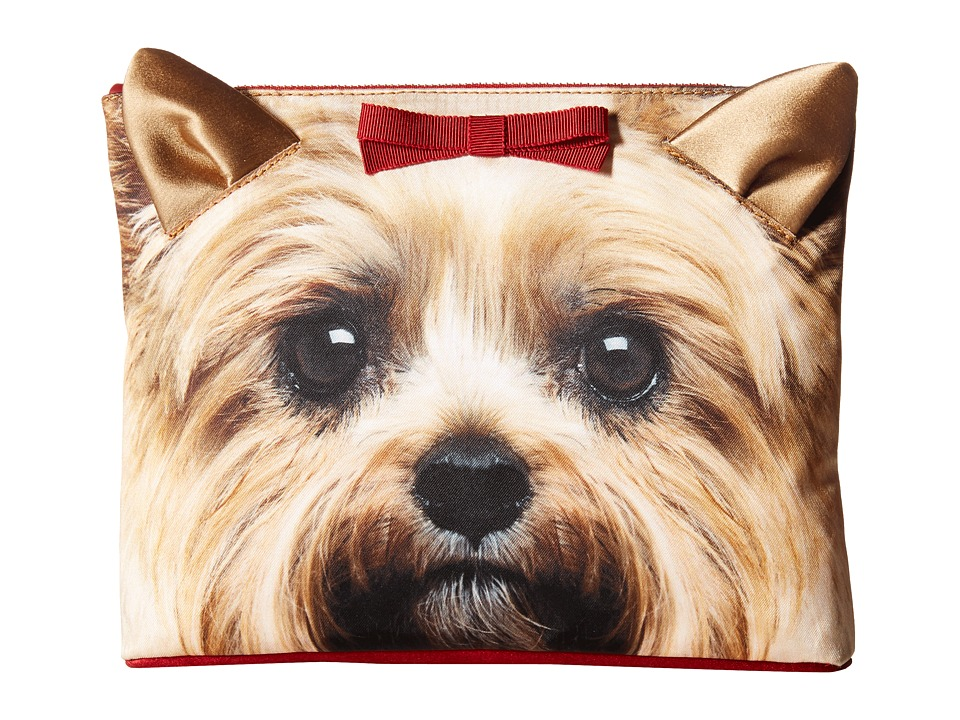 Charlotte Olympia Puppy Pouch Yorkie Print Wallet