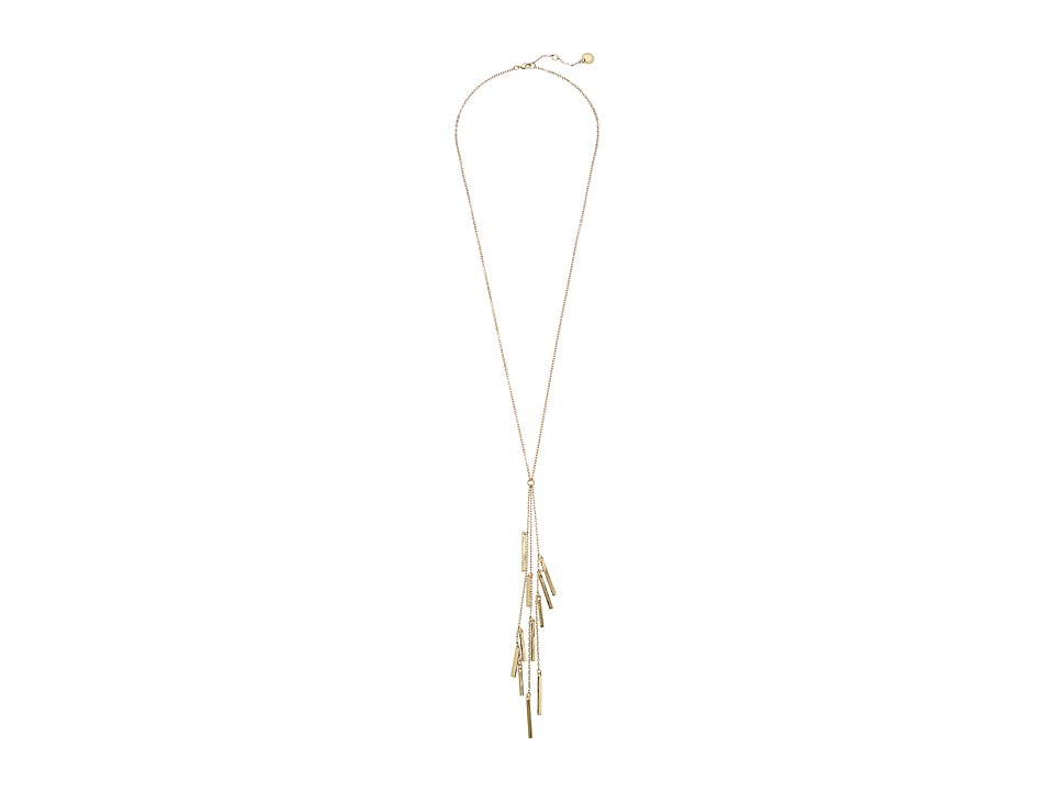 French Connection Bar Tassel Necklace Gold Necklace