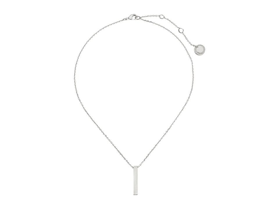 French Connection Bar Pendant Necklace Silver Necklace