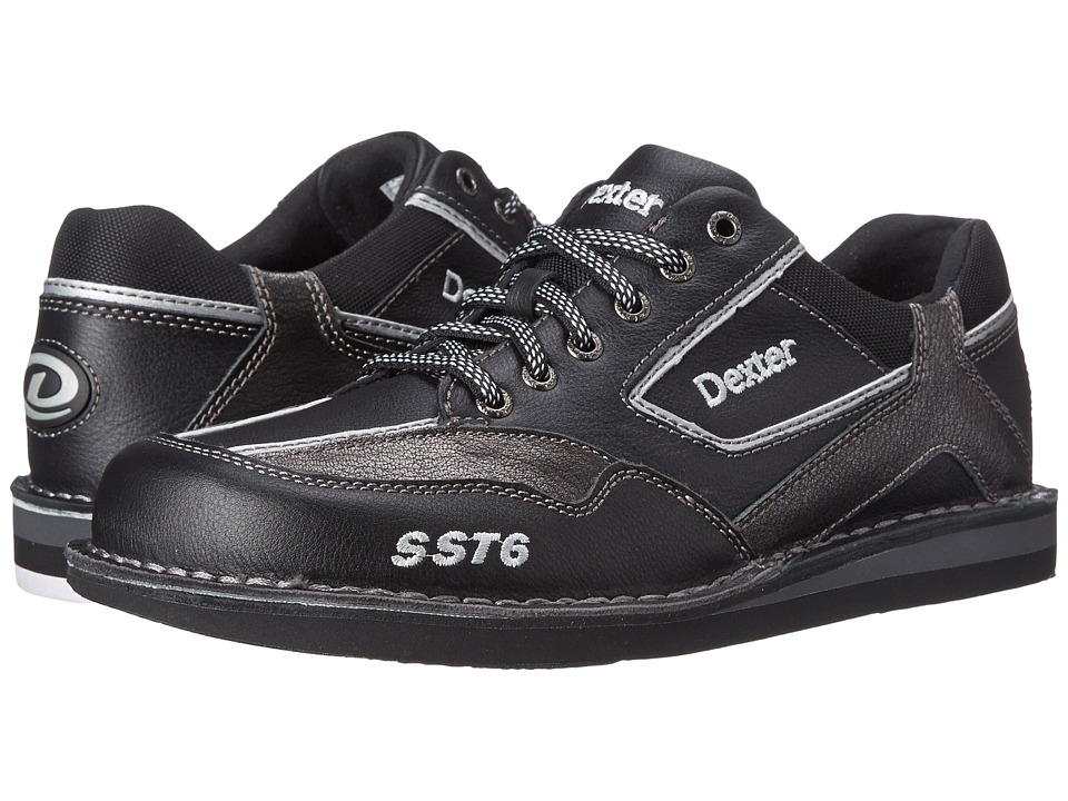 Dexter Bowling SST 6 LZ Black/Alloy Mens Bowling Shoes