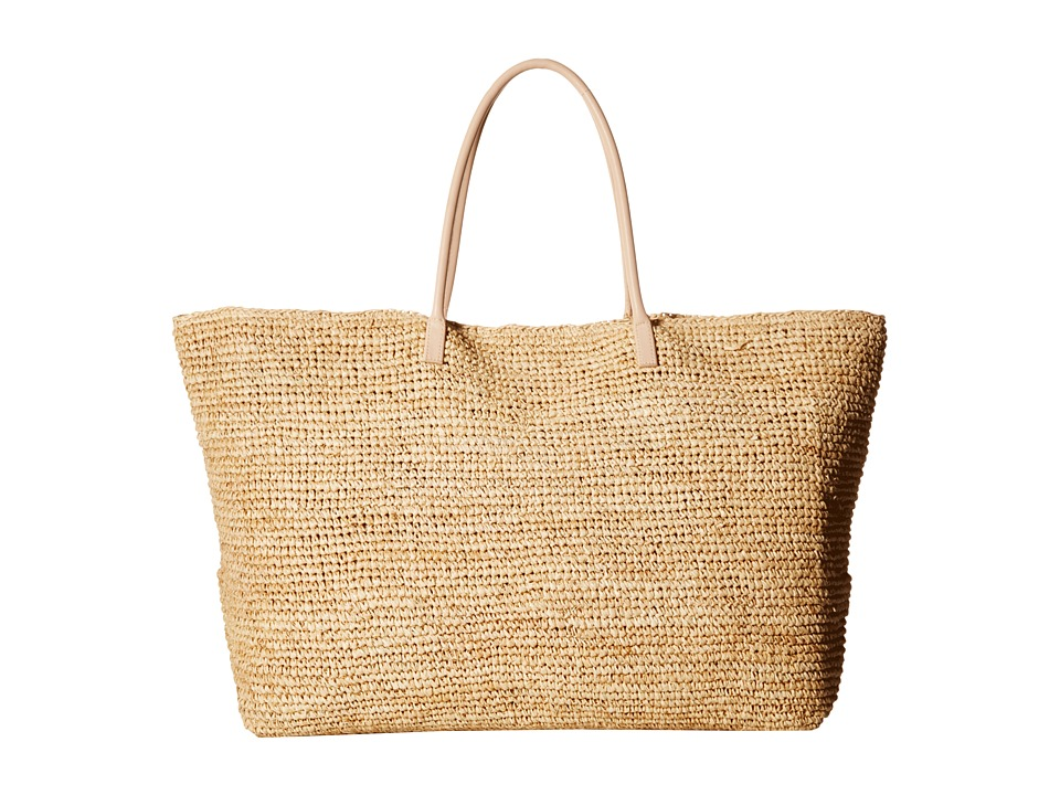 Hat Attack - Luxe Tote with Vachetta Handles (Natural) Tote Handbags