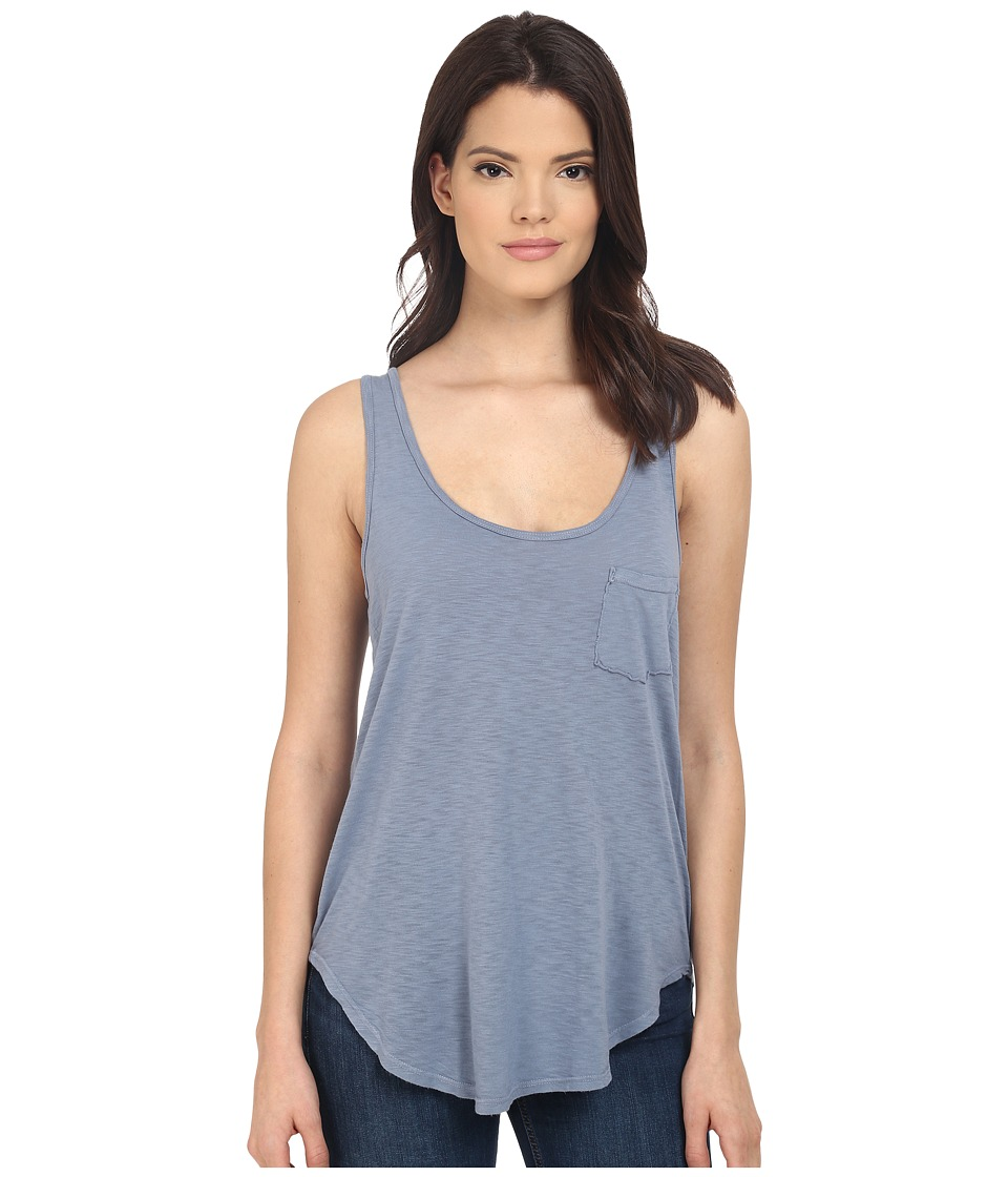 LAmade Boyfriend Tank w/ Pocket Fresia Blue Womens Sleeveless