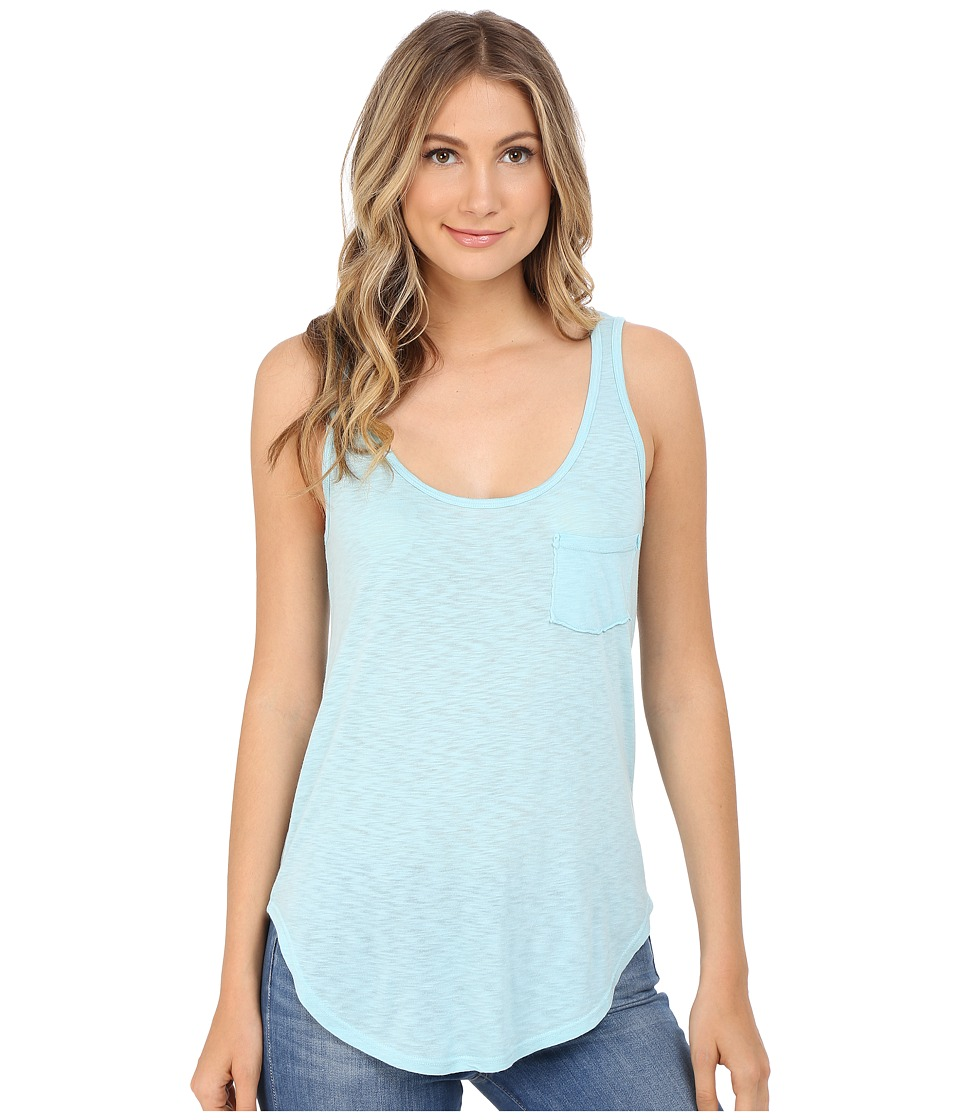 LAmade Boyfriend Tank w/ Pocket Blue Frost Womens Sleeveless