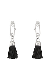 French Connection - Safety Pin Tassel Drop Earrings