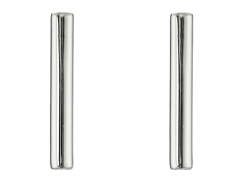 French Connection Tube Stud Earrings Silver Earring