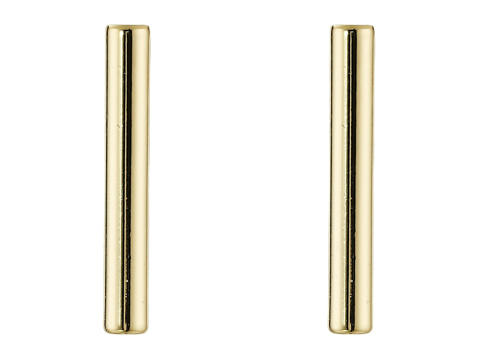 French Connection Tube Stud Earrings Gold Earring