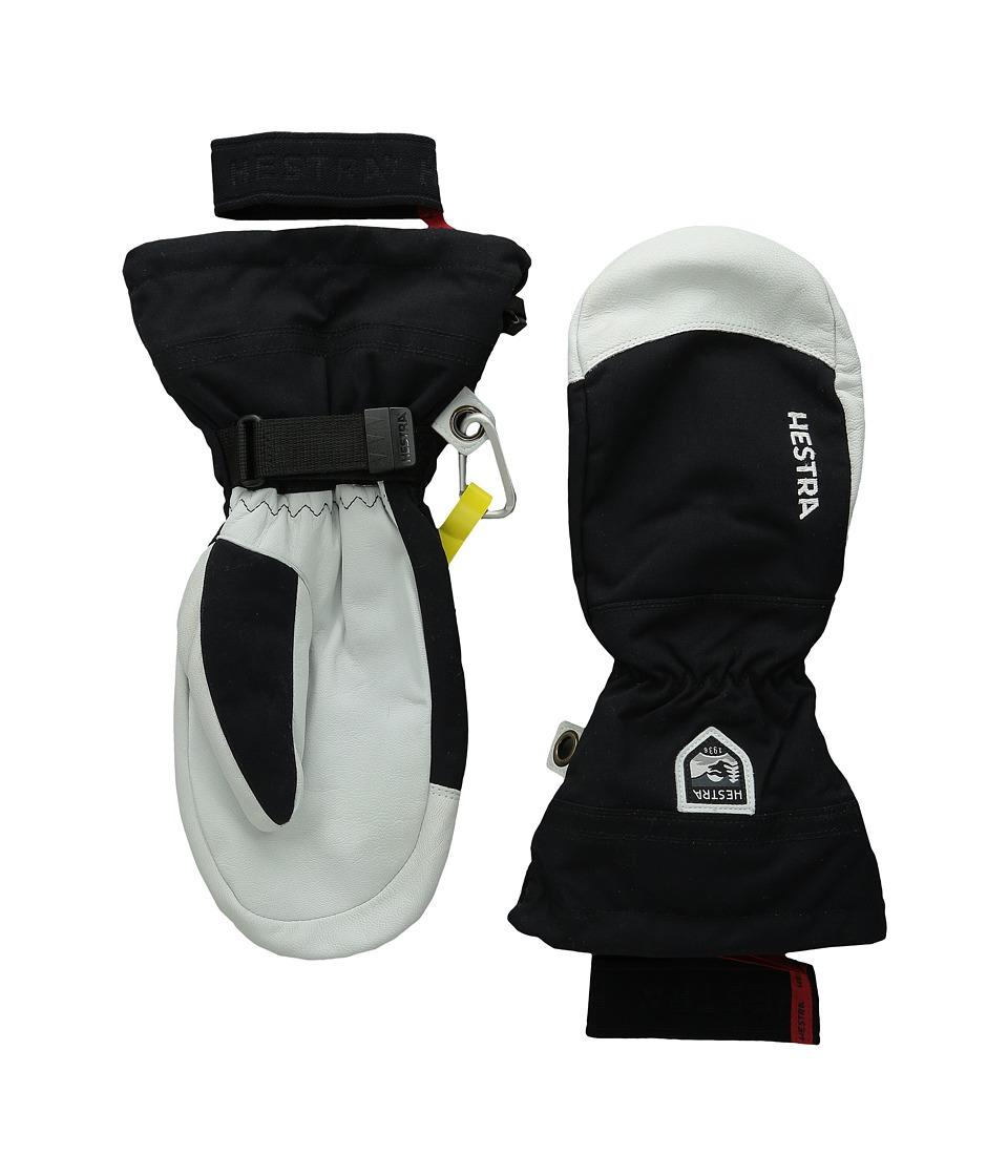 Hestra - Army Leather Heli Ski Mitt (Black) Ski Gloves