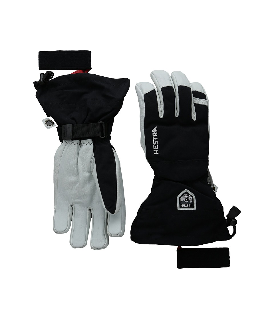 Hestra Army Leather Heli Ski (Black) Ski Gloves
