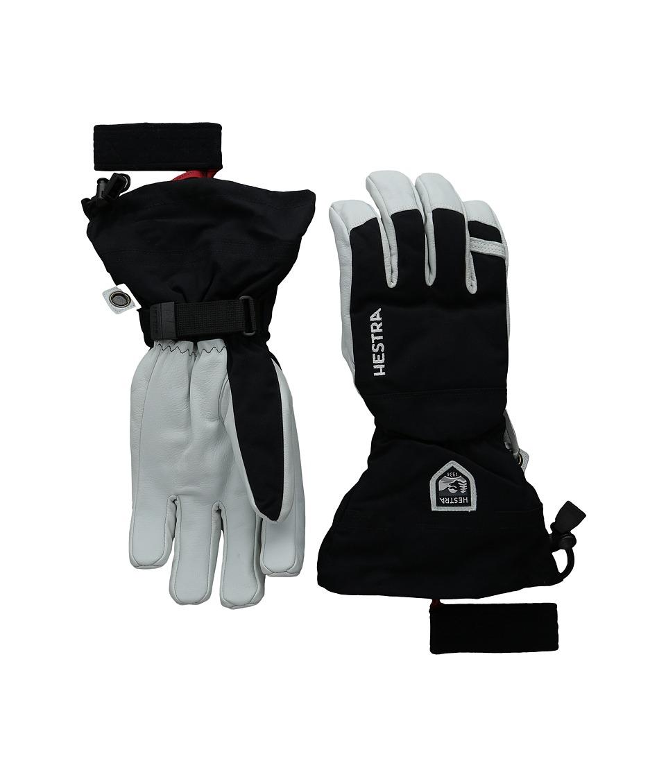 Hestra - Army Leather Heli Ski (Black) Ski Gloves