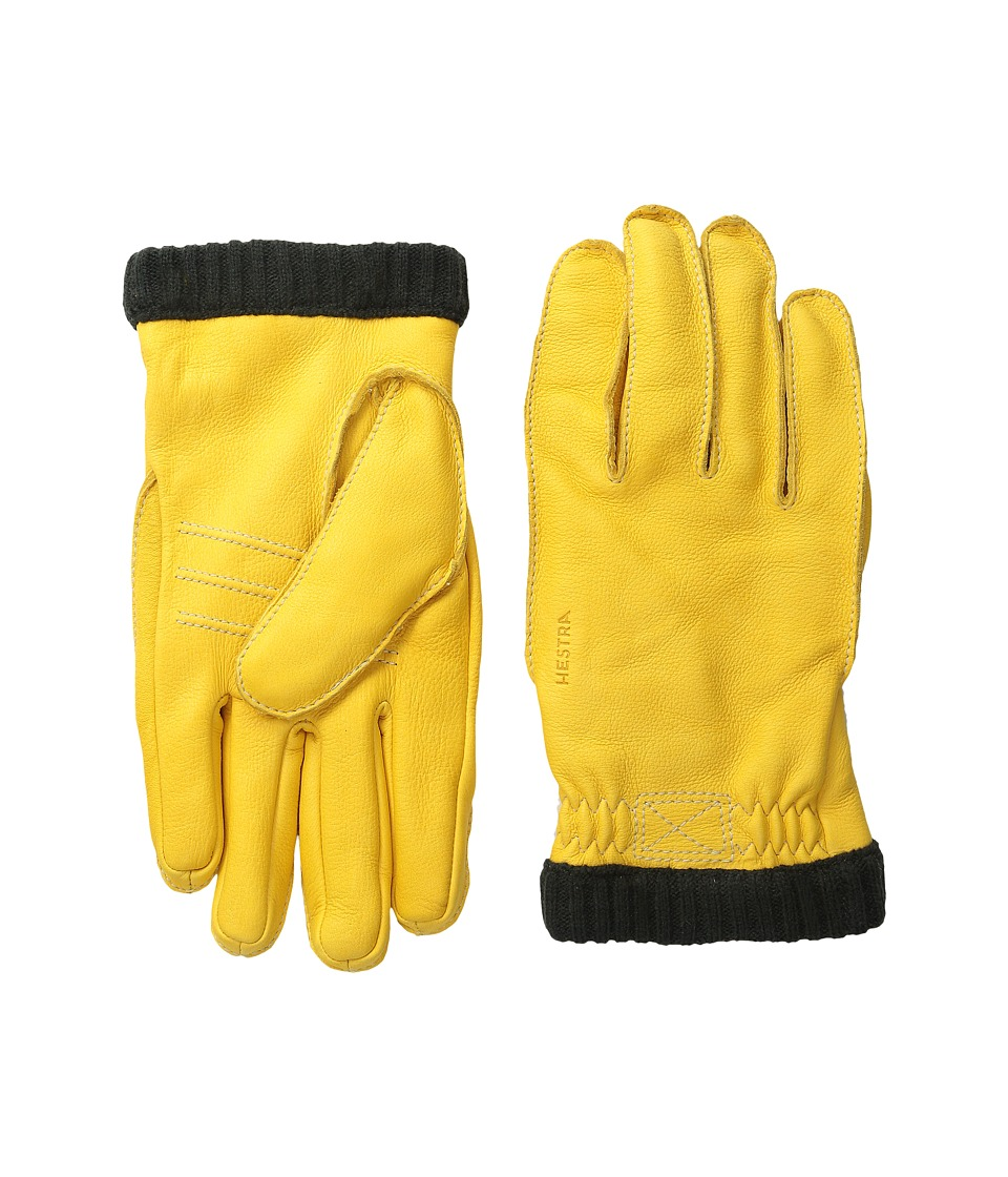 Hestra Deerskin Primaloft Rib Natural Yellow Ski Gloves