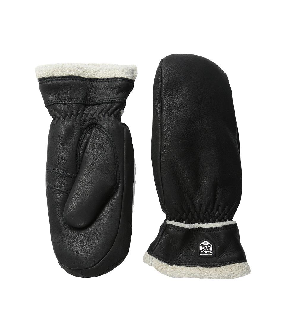 Hestra Deerskin Primaloft Mitt Black Ski Gloves