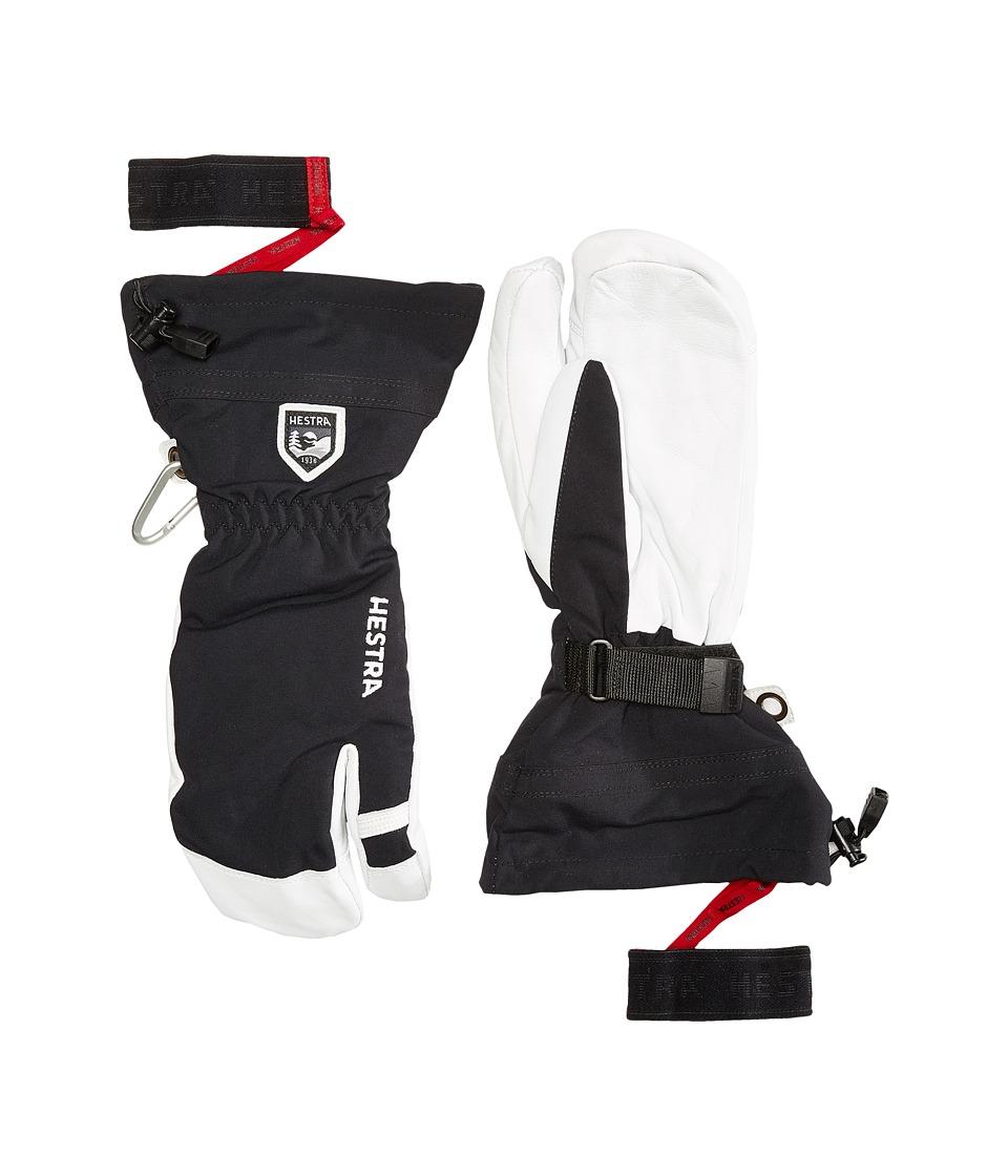 Hestra - Army Leather Heli Ski 3-Finger (Black) Ski Gloves