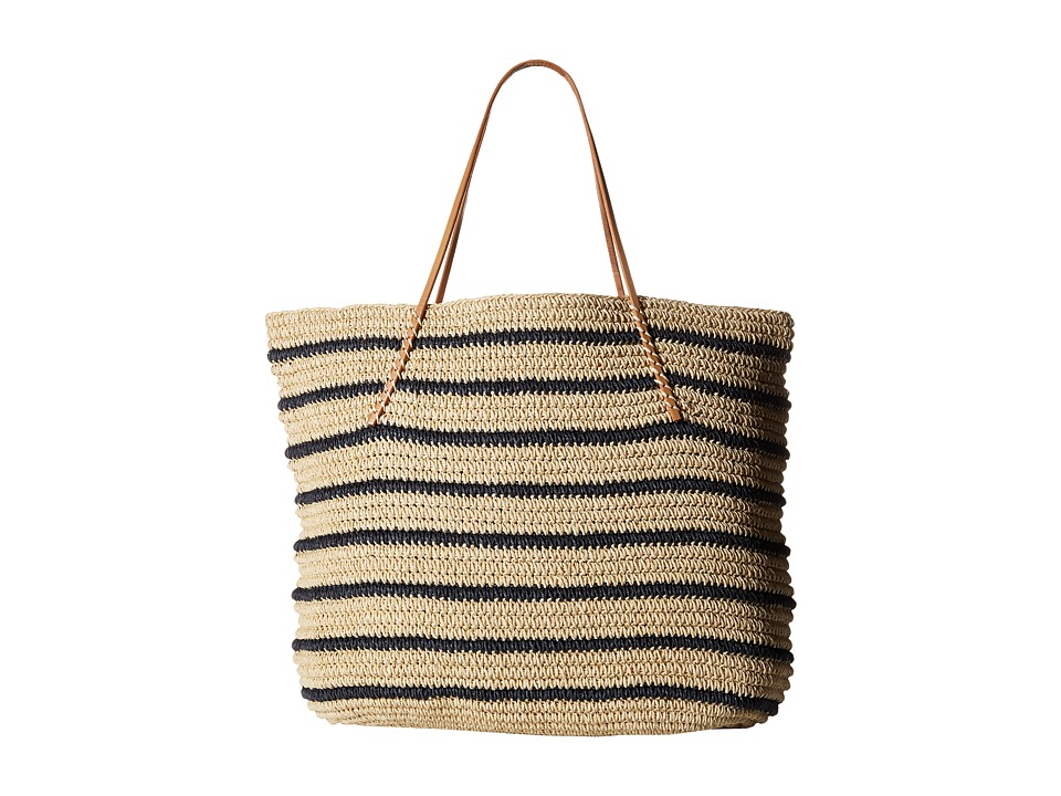 Hat Attack - Twisted Stripe Tote (Navy Stripe) Tote Handbags