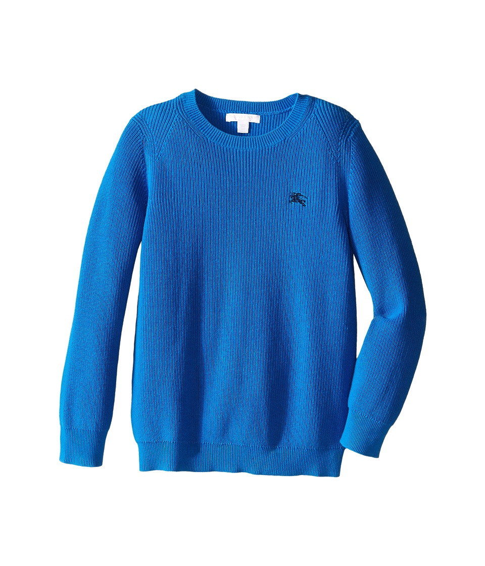 Burberry Kids Cotton Crew Neck (Little Kids/Big Kids) (Blue Azure) Boy