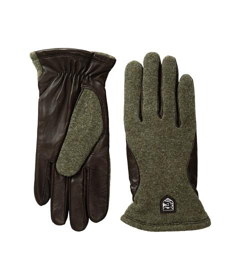 Hestra Hairsheep Wool Tricot - Dark Green/Dark Brown