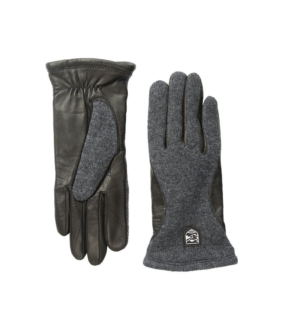 Hestra Hairsheep Wool Tricot (Charcoal/Black) Ski Gloves