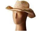 Hat Attack Raffia Crochet Cowboy with Bead Trim