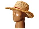 Hat Attack Thick Raffia Braid Fringed Sunhat with Tassel Trim (Natural/Orange Tassels)
