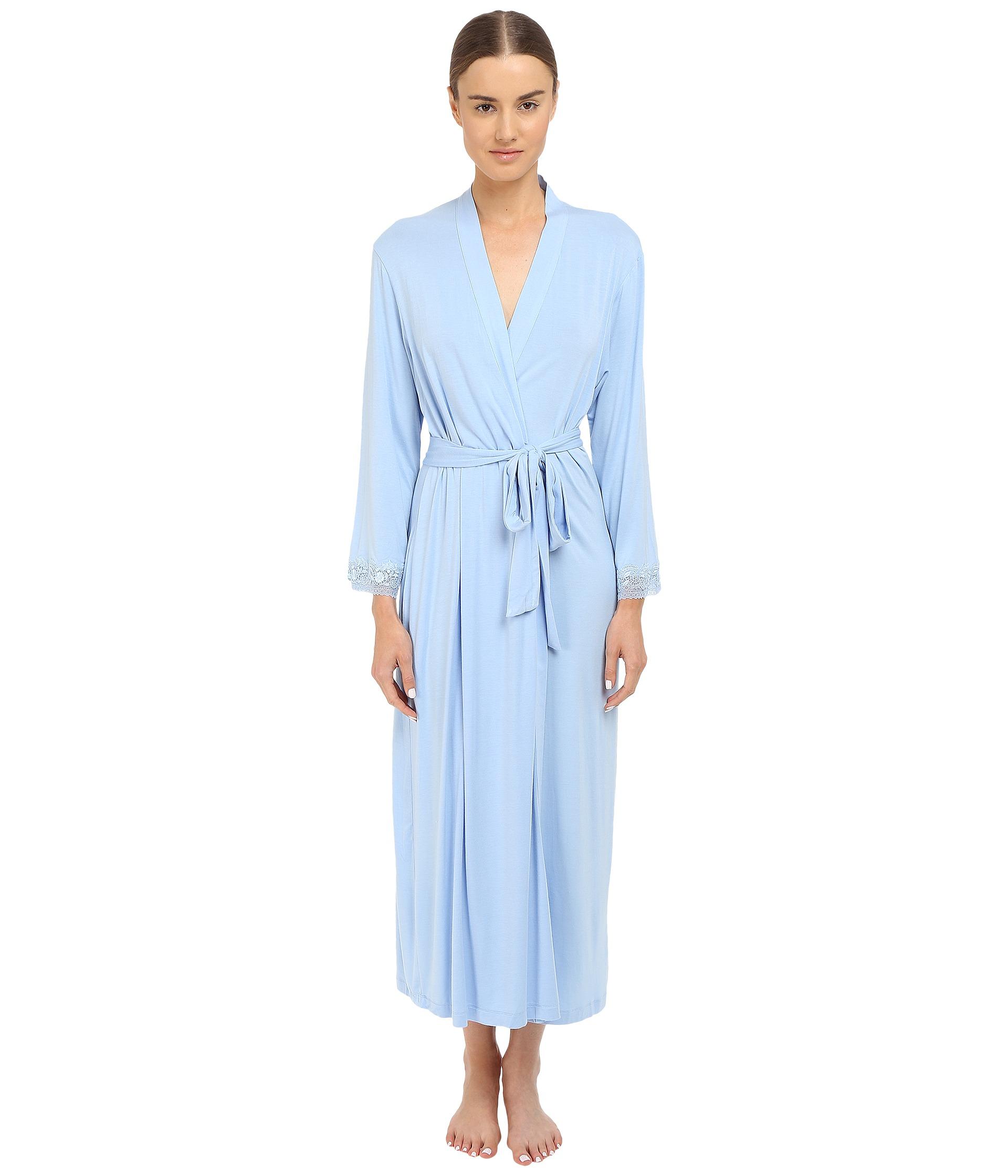 oscar de la renta rayon spandex luxe jersey robe pale blue. Black Bedroom Furniture Sets. Home Design Ideas