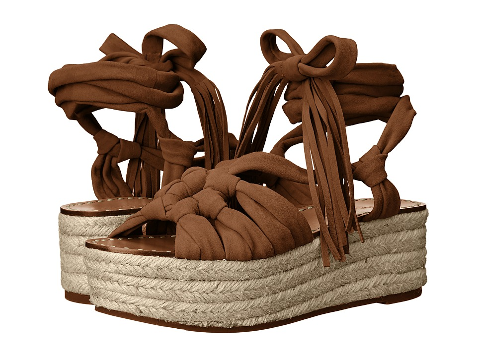 Sigerson Morrison Cosie Dark Tan Suede Womens Shoes