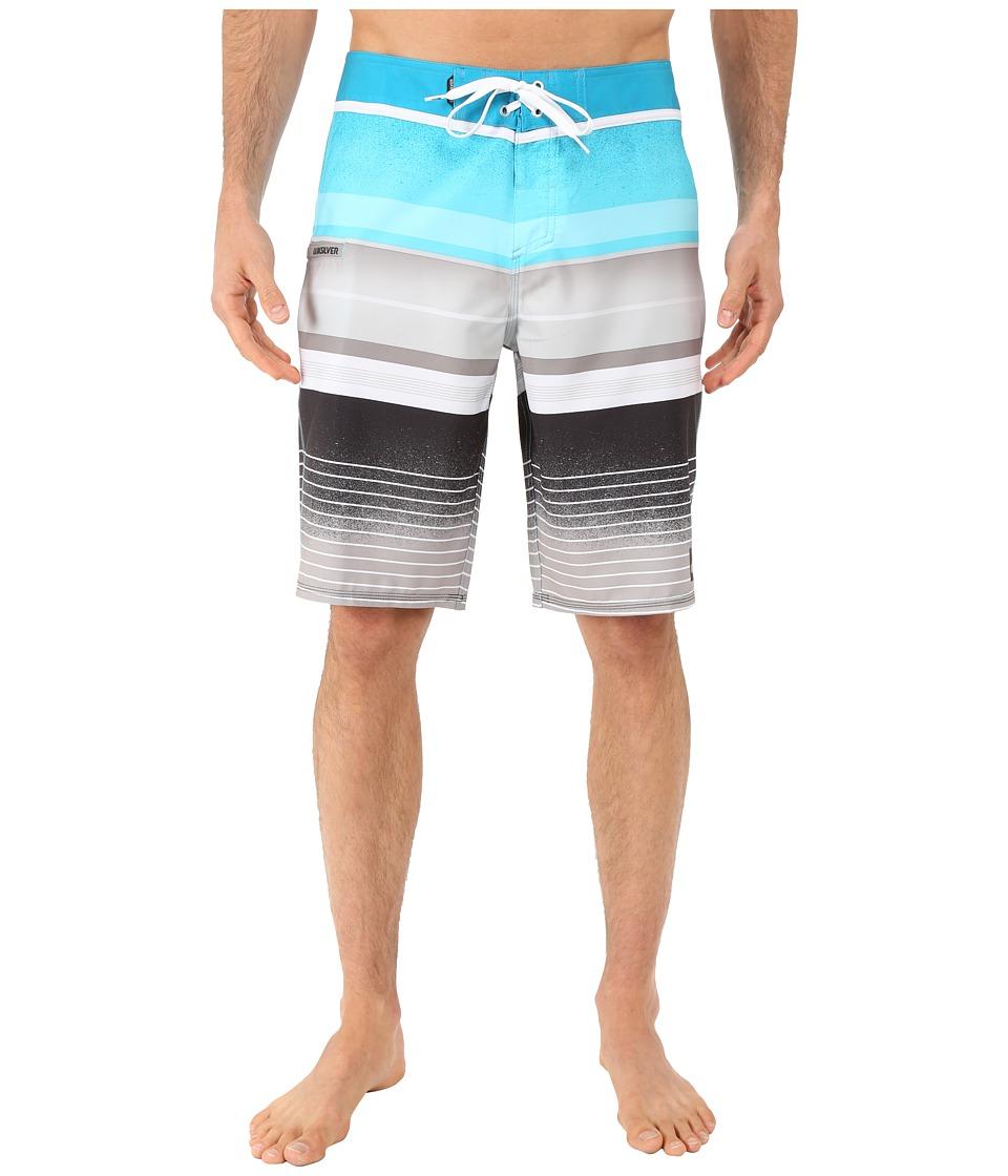 Quiksilver Everyday Stripe 21 Boardshorts Hawaiian Ocean Mens Swimwear