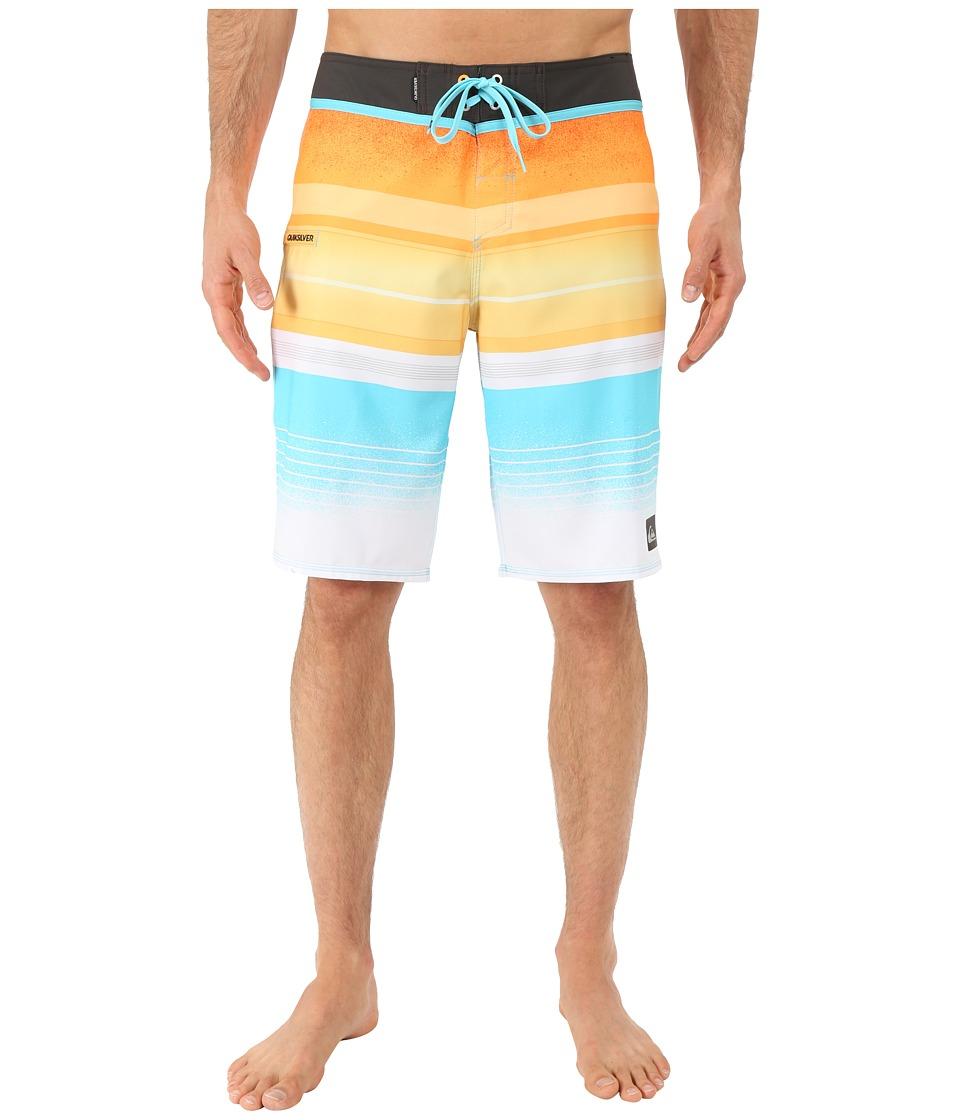Quiksilver Everyday Stripe 21 Boardshorts Stripe Orange Pop Mens Swimwear
