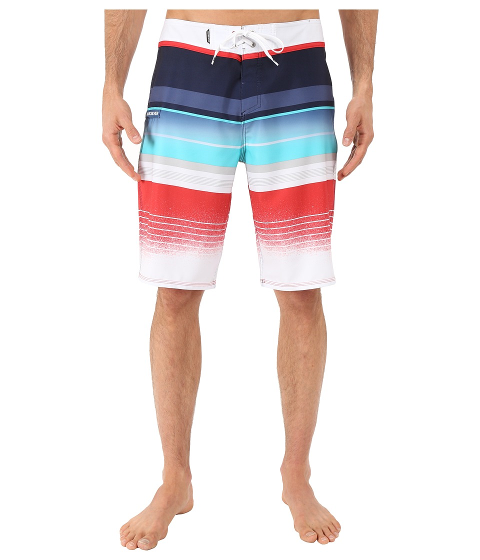 Quiksilver Everyday Stripe 21 Boardshorts Navy Blazer Mens Swimwear