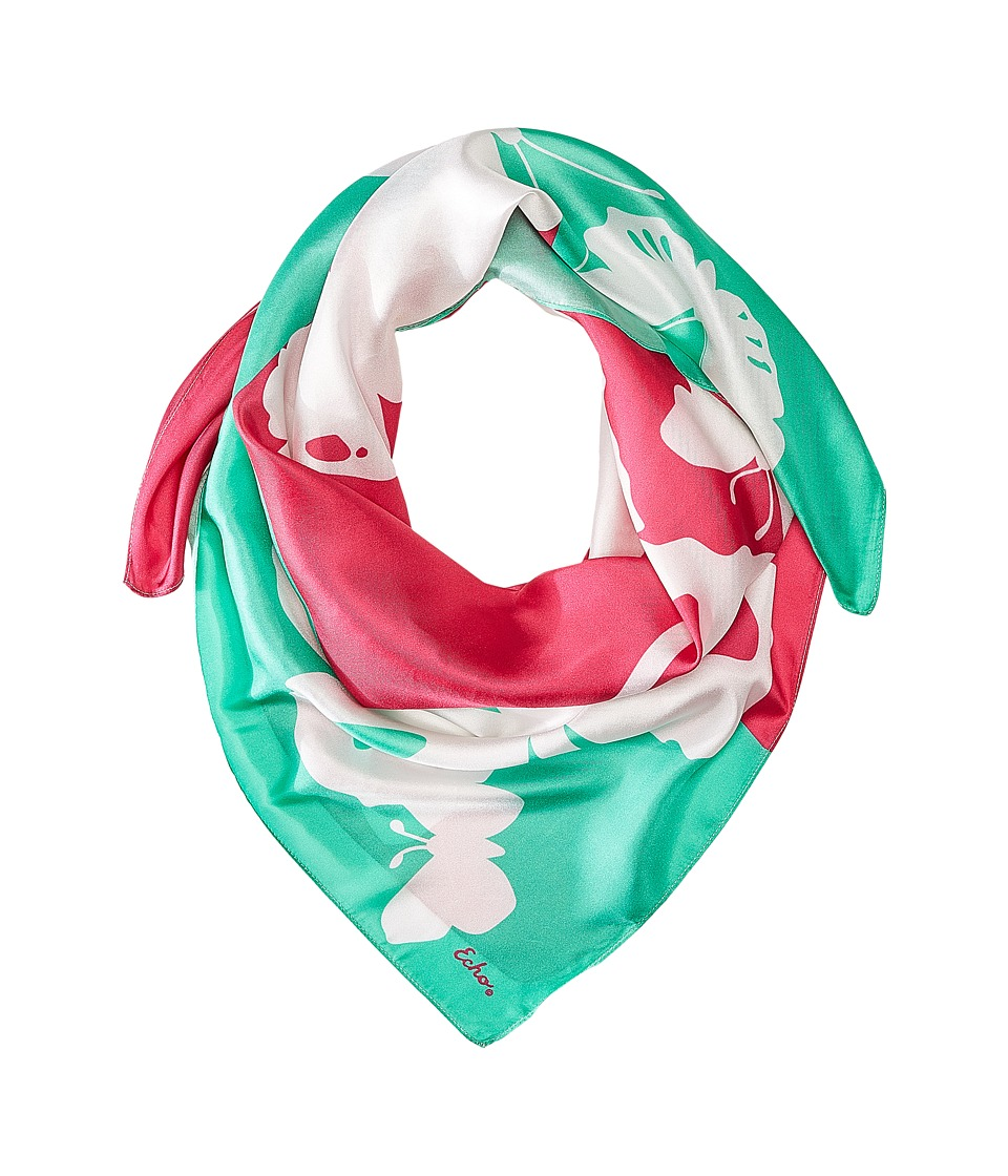 Echo Design Color Block Butterfly Square Fuchsia Flower Scarves