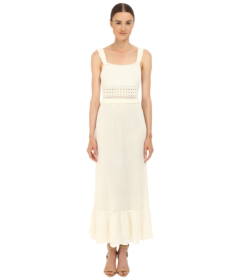 RED VALENTINO Crochet Maxi Dress White Womens Dress