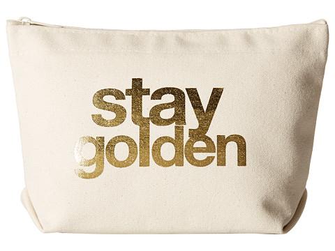 Dogeared Stay Golden Foil Lil Zip