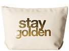 Dogeared Stay Golden Foil Lil Zip (Canvas/Gold)