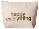 Dogeared Happy Everything Foil Lil Zip (Canvas/Gold)