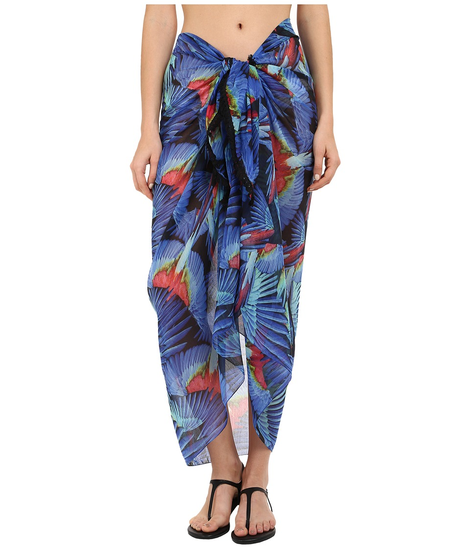 Echo Design Birds of Paradise Pareo Cover Up Dazzling Blue Scarves