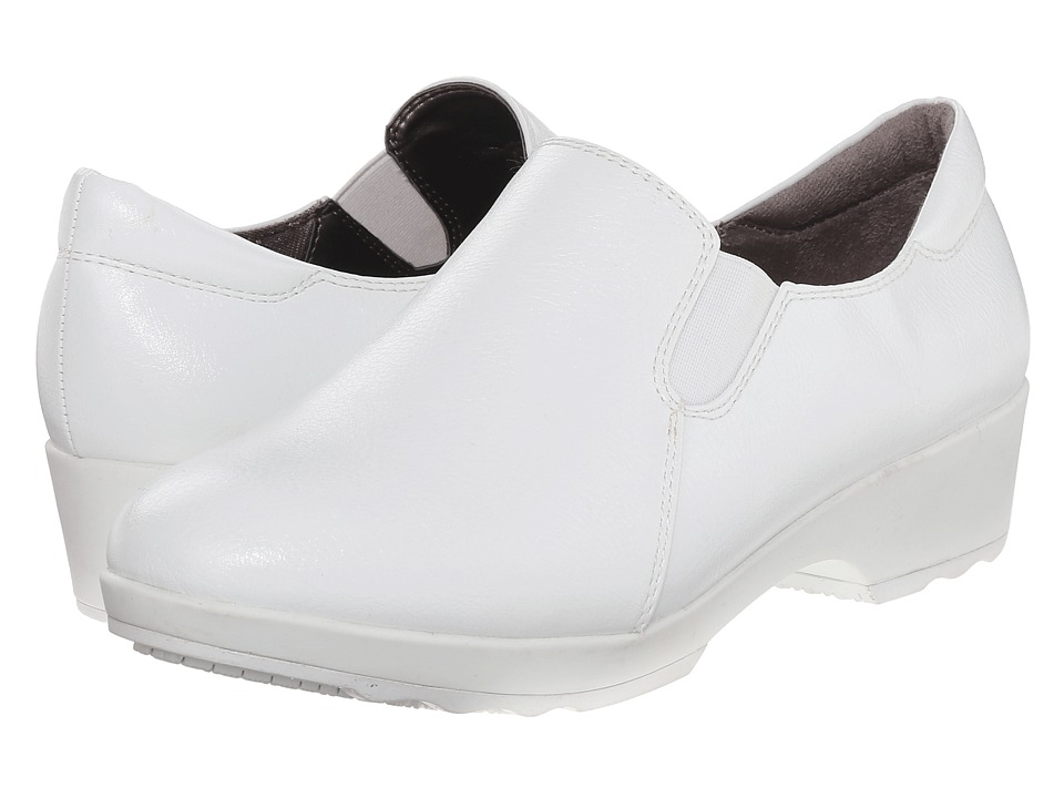 LifeStride Buzz White Smooth Womens Shoes