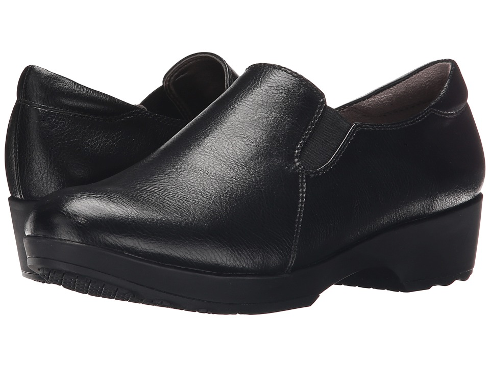 LifeStride Buzz Black Smooth Womens Shoes