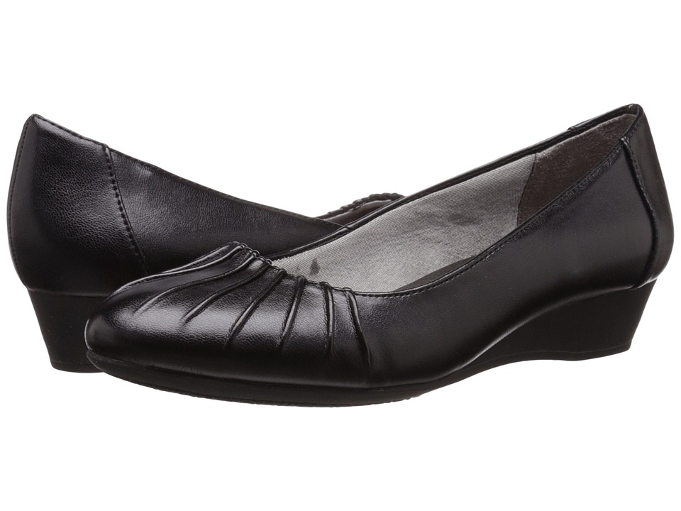 LifeStride Capstone Black Smooth Womens Shoes