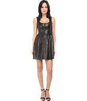RED VALENTINO - Corset Leather Dress
