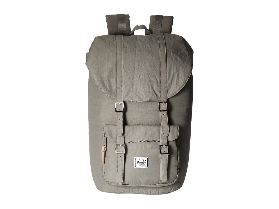 Herschel Supply Co. Little America Agate Grey/Raw Veggie Tan Leather Backpack Bags