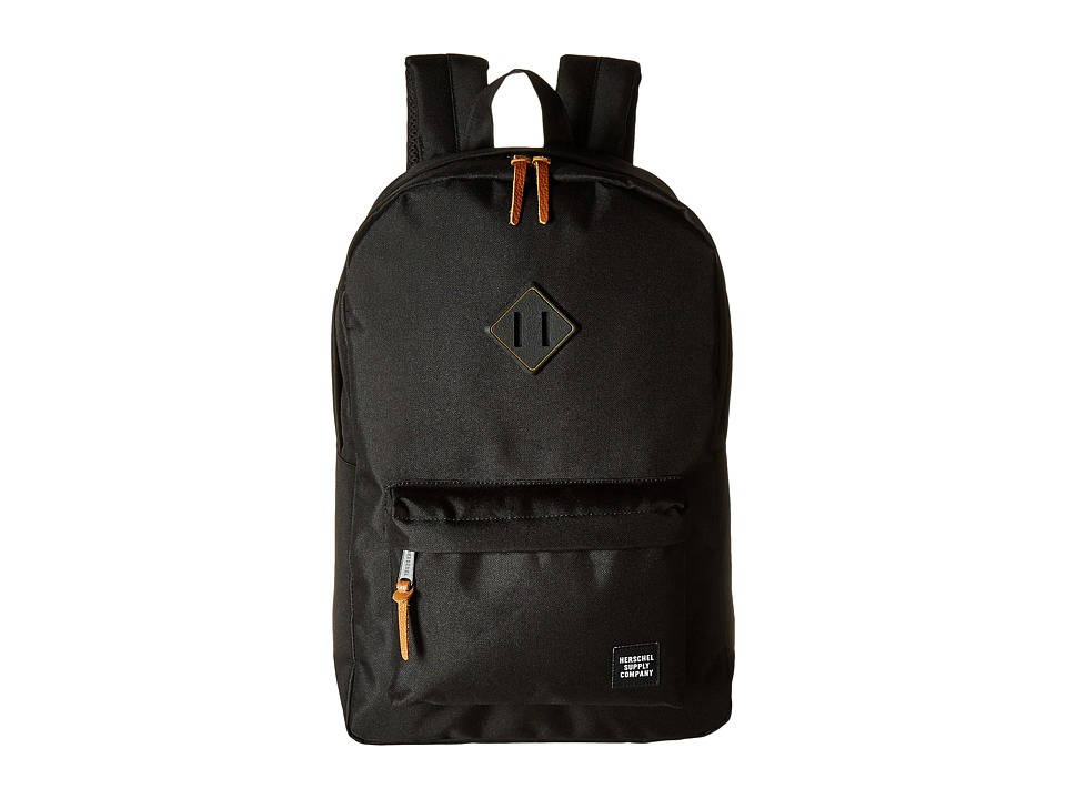 Herschel Supply Co. Heritage Black/Black Rubber/Gum Backpack Bags
