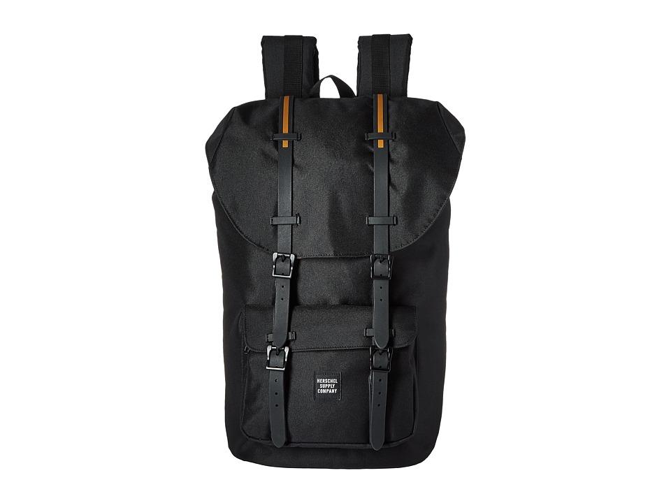 Herschel Supply Co. Little America Black/Black Rubber/Gum Backpack Bags