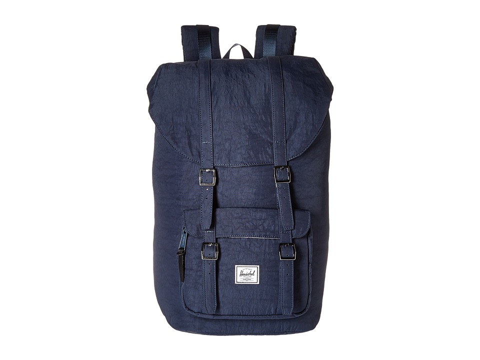 Herschel Supply Co. Little America Total Eclipse/Black Veggie Tan Leather Backpack Bags
