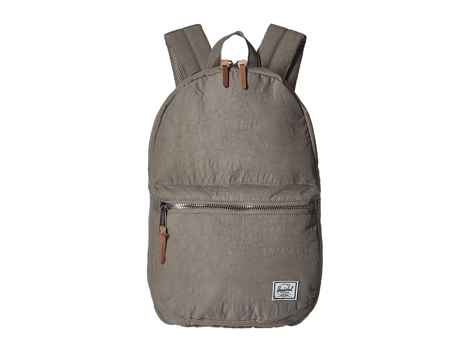 Herschel Supply Co. Lawson Agate Grey/Raw Veggie Tan Leather Backpack Bags